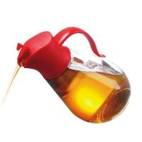 SIMELO(施美乐)首尔风情调料瓶自开启防漏油壶550ML(红色)