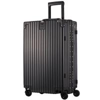 瑞界(SWISSALPS) 萬向輪拉桿箱26英寸復古鋁框旅行箱男女海關密碼鎖行李箱 SA-162038爵士黑
