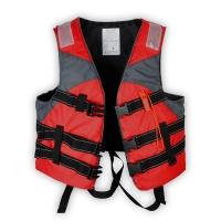 TaTanice  J7成人救生衣 游泳衣 带救生口哨 马甲 背心 户外钓鱼休闲安全应急救灾用品 红色均码