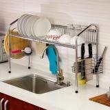 歐潤哲 水槽架 多功能雙槽加固碗碟刀菜板筷洗手盆瀝水收納架