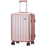 爱华仕(OIWAS)ABS+PC 配色飞机轮拉杆箱 扩展层行李箱包20英寸登机箱 男女旅行箱6229 玫瑰金