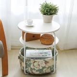 潮土creatwo床头柜多功能收纳边几圆形小桌子沙发边桌茶几电话桌0273