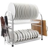 维艾(Newair)厨房置物架碗架304不锈钢筷子碗碟沥水架U型