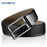 新秀丽(Samsonite)男皮带 男士休闲商务腰带男式裤带男款1.3寸尾夹针扣皮带 黑色 BW5*09002 120CM