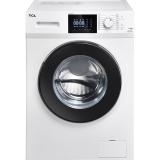 TCL 8公斤 变频全自动滚筒洗衣机 羽绒服洗 中途添衣 节能静音 16种洗涤程序高温除菌(芭蕾白)XQG80-P300B
