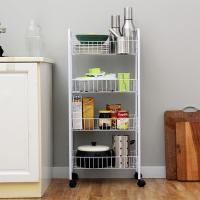 欧润哲 层车 4层车可移多用途固定篮层架置物架厨房浴室储物架杂物整理架 白色