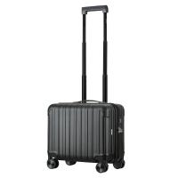 漢客(HANKE)防刮細點紋拉桿箱萬向輪男女商務公文電腦旅行箱行李箱子 耐磨PC登機箱H9965 16英寸黑色