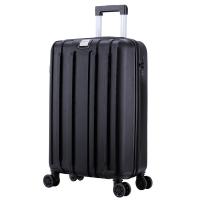 瑞界(SWISSALPS) 萬向輪拉桿箱20英寸簡約商務休閑行李箱豎紋男女登機箱 SA-17005 雅典黑