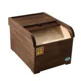 SIMELO(施美乐)赠米斗 炭化桐木储物柜防潮透气保鲜米箱10KG(重烤色)