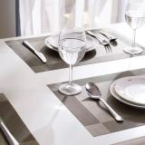 欧润哲 餐垫 桌面双框防烫隔热桌垫 6块装棕色