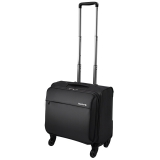 漢客(HANKE)萬向輪拉桿箱男女商務公文電腦旅行箱行李箱子 防潑水耐磨登機箱H8059 18英寸黑色
