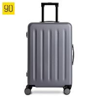 90分鋁框拉桿箱24英寸 德國拜爾PC材質靜音萬向輪行李箱 輕質鋁框旅行箱 100702星空灰