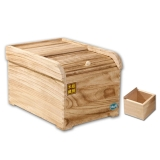 SIMELO(施美乐) 赠米斗 炭化桐木防潮透气储物柜保鲜米箱10KG(轻烤色)