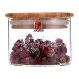 一屋窯 玻璃儲物罐 茶葉罐玻璃密封罐 可儲存花草茶豆類 380ml FH-905SS