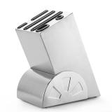 美厨(maxcook)不锈钢刀架 MCWA-DJ001 (刀座 适用不同大小刀具 6个刀槽 可拆卸易清洗 加厚不锈钢)