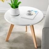 香可 北欧圆形小茶几简约客厅时尚创意茶桌小户型实木腿咖啡桌