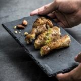 學廚CHEF MADE 巖石創意餐盤家用板巖餐具西餐盤點心壽司盤長方形烘焙工具WK9361