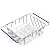 奧美優 瀝水架不銹鋼置物架收納架 廚房瀝水籃可伸縮碗架 平底 AMY1101