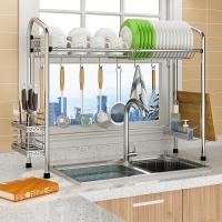 朝暮之家碗架水槽瀝水架廚房置物架碗碟架放碗架筷子架刀架砧板架筷子筒 單槽款ZM3386