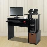 慧乐家 电脑桌 多功能带抽写字桌 台式家用书桌学习桌 黑色 12095