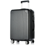 梵地亞(Vantiiear)萬向輪拉桿箱耐磨抗摔20英寸旅行箱男女行李箱登機箱 黑色