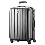 瑞动(SWISSMOBILITY)拉杆箱24英寸旅行箱 大容量行李箱轻盈静音万向轮男女 5555黑色