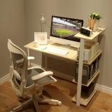 慧乐家 电脑桌 时尚一体式电脑书桌 简易书桌写字台学习桌办公桌笔记本桌 竹木纹色 22155