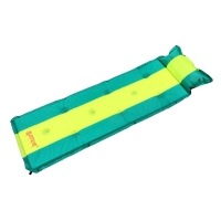 喜馬拉雅 戶外自動充氣墊單人雙人可拼接帳篷防潮墊加厚午睡墊野餐郊游露營地墊 綠黃條HA9610