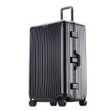 PointKid 铝框拉杆箱运动版男女万向轮32英寸旅行箱加厚款大容量行李箱密码箱包 1701经典黑