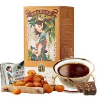 老金磨方 黑糖桂圓紅棗茶 經期月子姜汁紅糖姜茶塊小袋裝140g(20g*7袋)