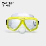 WaterTime 蛙咚 潜水镜 浮潜面具 成人装备护鼻蛙镜 黄色