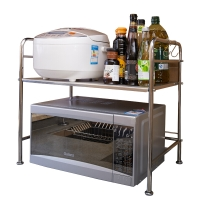 品维 微波炉架烤箱架双层厨房置物架 401006-1