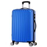 博兿(BOYI)萬向輪拉桿箱24英寸男女士旅行箱輕盈行李箱 BY-72002極光藍