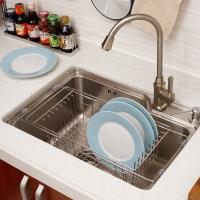 欧润哲 沥水架 不锈钢可伸缩多用途洗菜碗盘蔬果置物架