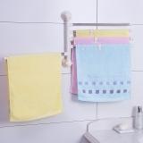 宝优妮 厨房置物架收纳架墙壁挂架吸盘毛巾架免打孔壁挂可旋转挂毛巾杆厨房用品DQ1522-1