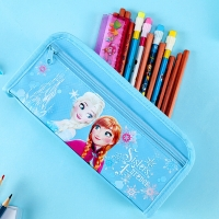 迪士尼(Disney)冰雪公主大容量笔袋铅笔盒多功能文具袋笔盒 蓝色 DM5617F