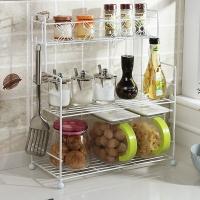 欧润哲 置物架 3层调味架多用途厨房调料瓶罐收纳架浴室桌面杂物架 白色