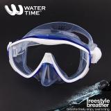 WaterTime/蛙咚 潜水镜 浮潜潜水面具 成人水镜装备大框蛙镜 蓝色