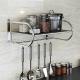 艾心依然 不锈钢单层微波炉架 厨房置物架收纳架 (外尺寸59*40*28cm)