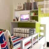 慧乐家 电脑桌 床上电脑书桌 懒人桌大学生宿舍书桌写字台学习桌笔记本电脑桌 绿白色 11310-2