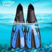 watertime蛙咚 男女成人专业浮潜游泳训练长脚蹼蛙鞋潜水装备用品 蓝色ML(42-43)