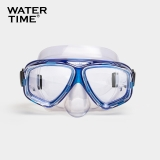 WaterTime 蛙咚 潜水镜 浮潜面具 成人装备护鼻蛙镜 湖水蓝