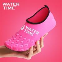 WaterTime蛙咚 潛水鞋 襪 男女成人速干透氣防滑浮潛鞋靴沙灘潛水長襪腳套裝備 粉色 S
