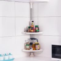 宝优妮厨房调料架 不锈钢置物架 壁挂架 调料盒 收纳架免打孔 转角架厨房用品 DQ601C-2