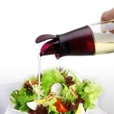 SIMELO(施美乐)首尔风情玻璃调料瓶瑞典翻盖油壶300ML(酒红)