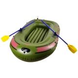 TaTanice C2 双人橡皮艇加厚充气船气垫船皮划艇钓鱼船冲锋舟 军绿色 两人船