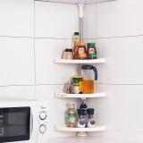 宝优妮厨房置物架调料架免打孔可伸缩三角架转角储物架调料盒收纳架DQ601C