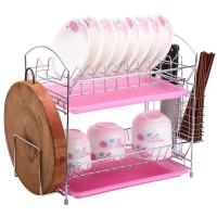 美廚(maxcook)碗碟架瀝水架 置物架廚房多用二層砧板筷子收納架 MSSB046-B 托盤顏色隨機