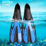 watertime蛙咚 男女成人专业浮潜游泳训练长脚蹼蛙鞋潜水装备用品 蓝色XS(36-37)