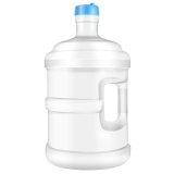 拜杰(Baijie)純凈水桶礦泉水桶飲用水飲水機茶臺吧機水桶手提戶外桶 7.5L 白色款